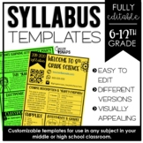 Syllabus Template (Editable)