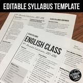 Syllabus Template: EDITABLE, Modern Newsletter Layout {Goo