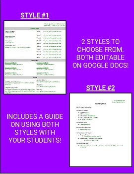 Syllabus Template  (Two Different Styles)