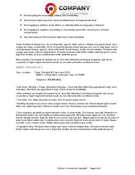 Syllabus Template, for Diploma, Certificate, or University