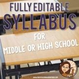 Syllabus Template for High School