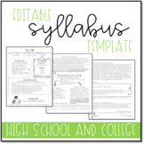 Syllabus Template for High School and College Courses