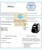 Syllabus Template for Middle and High School