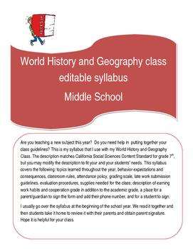 Syllabus-World History & Geography-Middle/High School