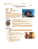 World History Syllabus - junior high middle school social science class calendar