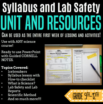 Syllabus and Lab Safety--FULL UNIT