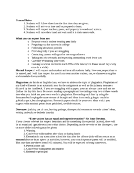 Syllabus for College Prep English course for seniors