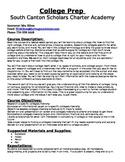 Syllabus for Elective Class