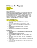 Physics Syllabus (WORD DOC)