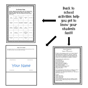 English Syllabus, procedures, behavior forms and ice breakers - Fully Editable