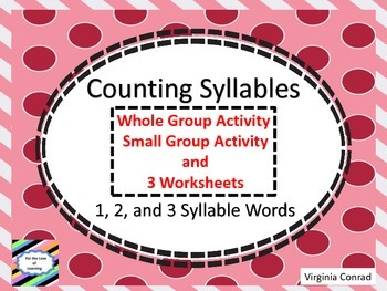 Syllables -- Activities and Worksheets