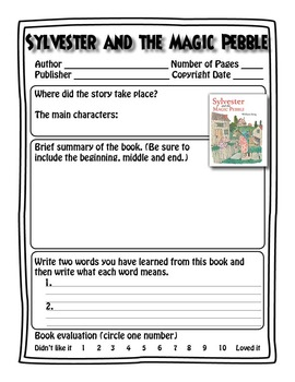 Sylvester And The Magic Pebble - Book Test & Bonus Book Report