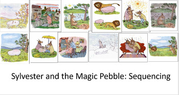 Sylvester And The Magic Pebble Interactive Sequencing Activity On Powerpoint
