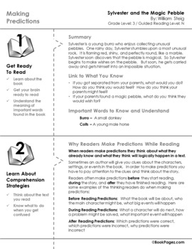 Sylvester and the Magic Pebble Lesson Plans & Activities Package,Third Grade