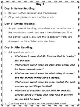 Sylvester and the Magic Pebble Book Companion for Grades 2-3
