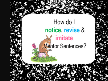 Sylvester and the Magic Pebble Interactive Mentor Sentence Teaching PowerPoint