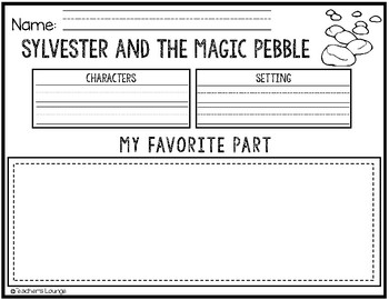 Sylvester and the Magic Pebble Reading Activities