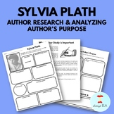 Sylvia Plath - Author Study Worksheet, Author's Purpose, A