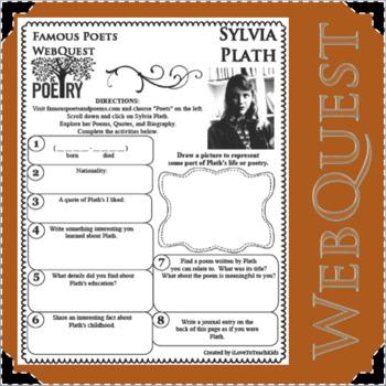 Sylvia Plath - WEBQUEST for Poetry - Famous Poet