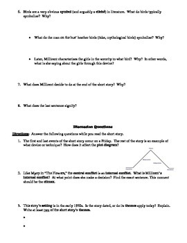 "Sylvia Plath's ""Initiation"" Reading Strategy Worksheet"