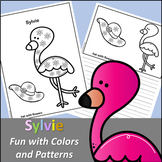 Sylvie Flamingo Fun with Colors and Patterns