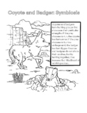 Symbiosis Coloring Page: Coyote and Badger