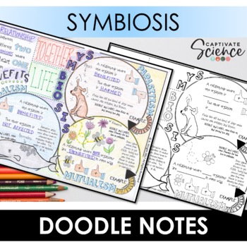 Symbiosis (Interactions Among Living Things) Doodle Notes