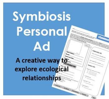 Symbiosis Personal Ad Worksheet