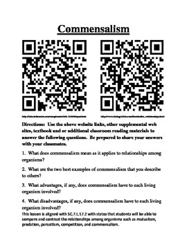 Symbiosis Relationship Investigation with QAR codes