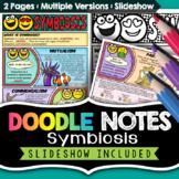 Symbiosis Comic Notes - Visual Doodle Worksheet + PowerPoint Slideshow