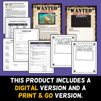 Symbiosis Wanted Poster - Project (Digital and Printable Options)