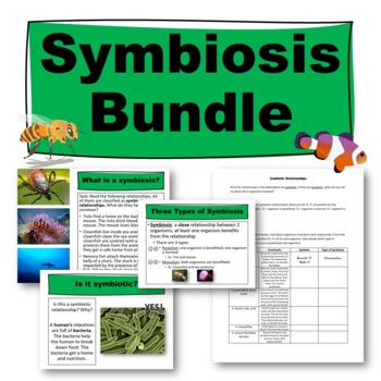 Symbiosis Worksheet by Science from Scratch | Teachers Pay Teachers