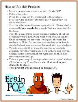 Symbiosis video for BrainPOP