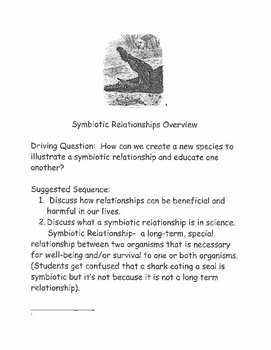 Symbiotic Relationship Packet (Topic on Science Air Test)
