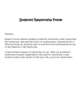 Symbiotic Relationship Poster
