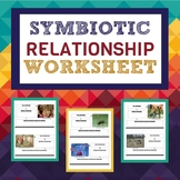 Symbiotic Relationship Worksheet