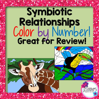 Symbiotic Relationships Color by Number Activity! Great for Review!