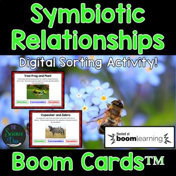Symbiotic Relationships - Digital Boom Cards™ Sort
