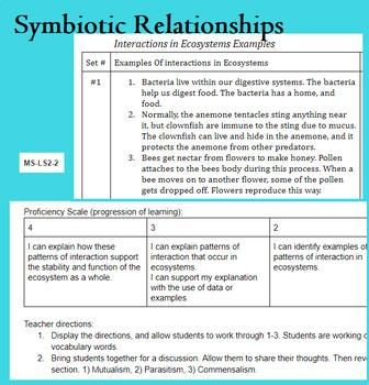 Symbiotic Relationships Lesson