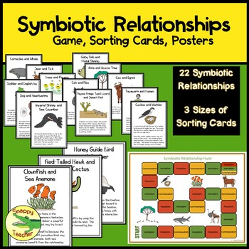 Symbiotic Relationships Sorting Cards, Game, and Posters