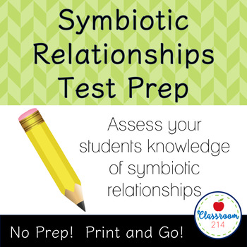 Symbiotic Relationships Test Prep