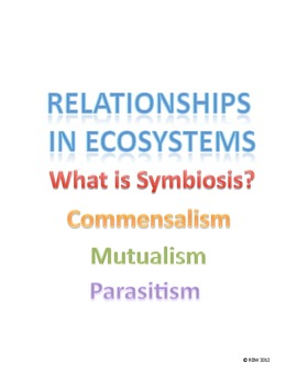 Symbiotic Relationships in Ecosystems- Commensalism, Mutualism, Parisitism