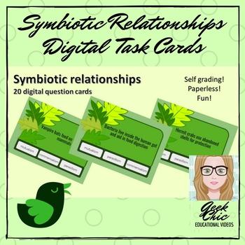 Symbiotic relationships - DIGITAL TASK CARDS