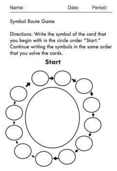 Symbol Plot Line Connection Game