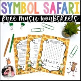 Symbol Safari: Music Symbol Word Puzzles for Elementary Students