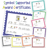 Symbol Supported Award Certificates for Special Education