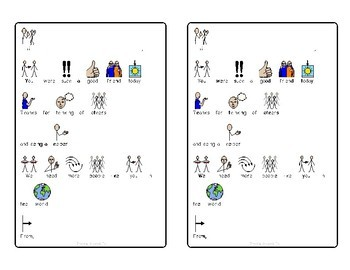 Symbol Supported Notes for Students (special education and autism)