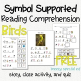 Symbol Supported Reading Comprehension for Special Ed FREEBIE