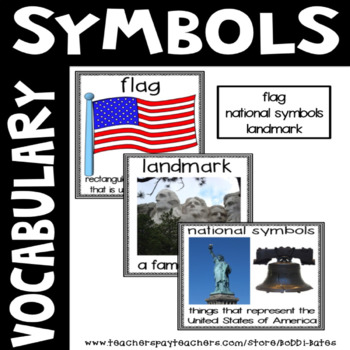 Symbol Vocabulary Word Posters