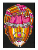 Symbolic Color Pencil Faces